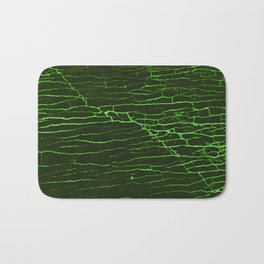 Stone acid, green-black Bath Mat