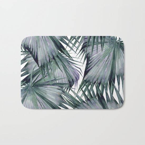 Tropical Leaves Green Bath Mat