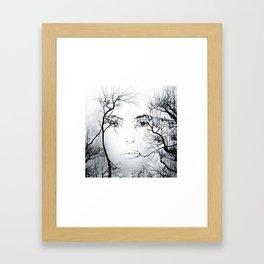 face in the trees Framed Art Print