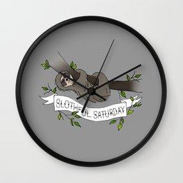 Slothful Saturday Wall Clock