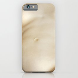Nude woman lying on the beach iPhone Case