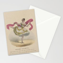 Clay Edward Williams Madame Lecompte principal danseuse at the Theatres Royal Paris St Petersburgh Lyons c c in the character of Zoloe the bayadere at the Park Stationery Cards