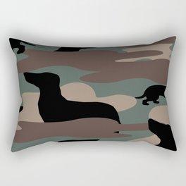 Camo Weiner Dogg Rectangular Pillow