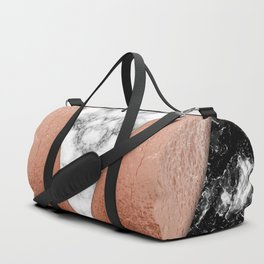 Rose Gold foil and marble Duffle Bag