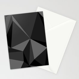 Low poly mess Stationery Cards