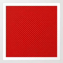 Red polka dot pattern Art Print