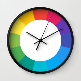 colors, red,pink,purple,blue,green,yellow,orange Wall Clock
