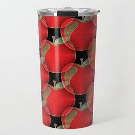 Red apple pattern Travel Mug