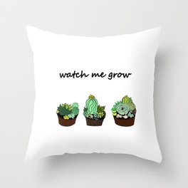little green cactuses ( https://society6.com/totalflora/collection ) Throw Pillow