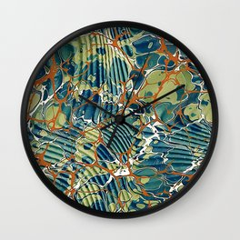 Old Marbled Paper 05 Wall Clock