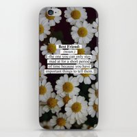 best friend iPhone & iPod Skins featuring Best Friend: by Sara Eshak