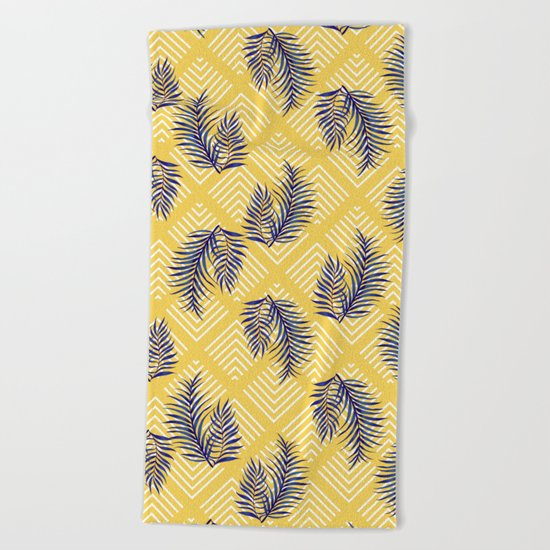 Geometries & Blue Palms #society6 #decor #buyart Beach Towel