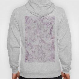 Elegant modern vintage white lilac violet marble Hoody
