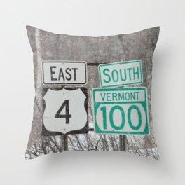 Vermont Street Signs Throw Pillow
