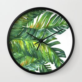 tropical green 2 Wall Clock
