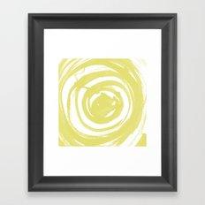 Swirl Ochre Framed Art Print