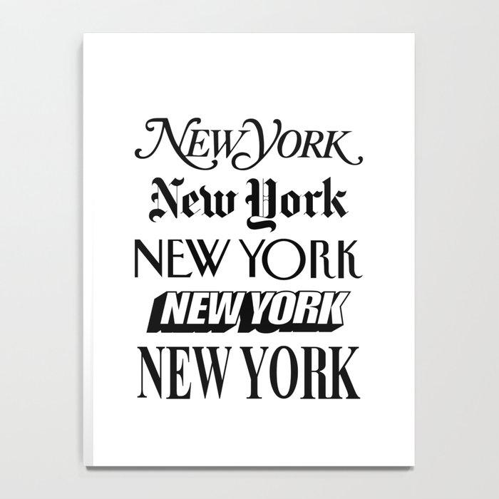 I Heart New York City Black and White New York Poster I Love NYC Design black-white home wall decor Notebook