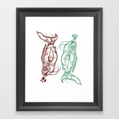 Chinese Fish Framed Art Print
