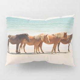 Summer Beach Horses Pillow Sham