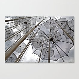 FREEDOM SURREAL FLYING UMBRELLAS  Canvas Print