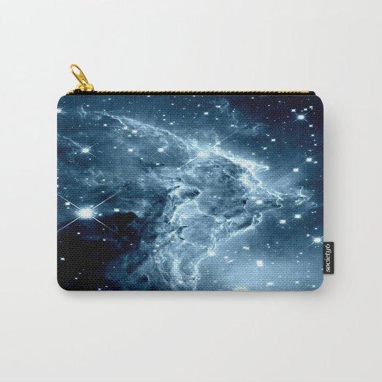 Ice Blue Galaxy : Monkey Head Nebula Carry-All Pouch