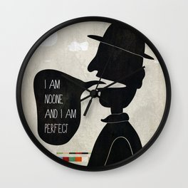 Noone is Perfect Wall Clock