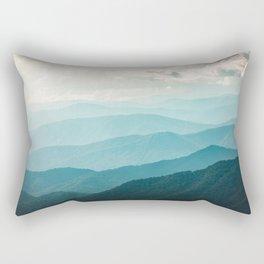 Turquoise Smoky Mountains - Wanderlust Nature Photography Rectangular Pillow