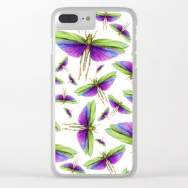 Titanacris albipes- Purple Winged Grasshopper Clear iPhone Case