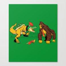 Boss vs Kong Canvas Print