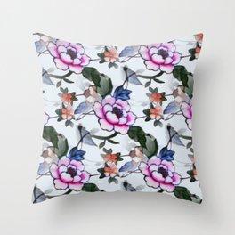 Antique Art Remastered Throw Pillow