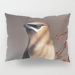 Cedar Waxwing Pose Pillow Sham