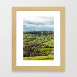 Northern California Foothills Framed Art Print