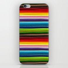 Indian Summer Colors Stripe iPhone Skin