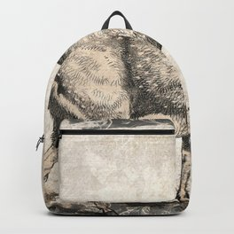 Moose Sketch (Monochrome) Backpack