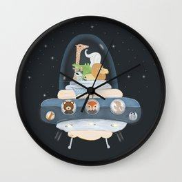 lets all go to space Wall Clock