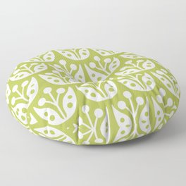 Mid Century Flower Pattern 5 Floor Pillow