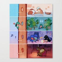 Birb Apartment Canvas Print