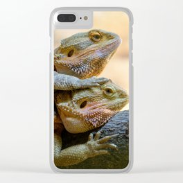 Couple of bearded dragons Clear iPhone Case