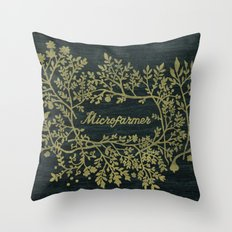 Microfarmer - Gold Throw Pillow