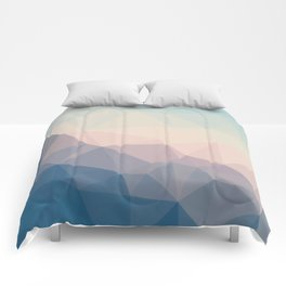 BE WITH ME - TRIANGLES ABSTRACT #PINK #BLUE #1 Comforters