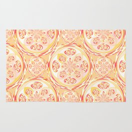 Geometric pizza pattern Rug