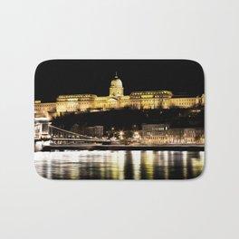 Budapest Chain Bridge And Castle Art Bath Mat