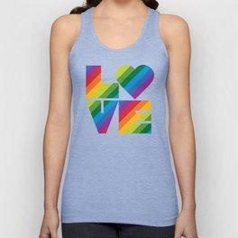 Rainbow Love Unisex Tank Top