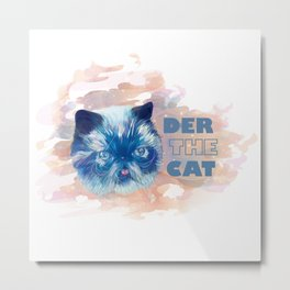Derpy cat Metal Print