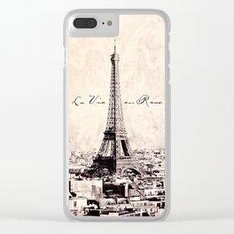 la Vie en Rose vintage Clear iPhone Case