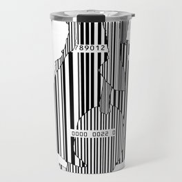 Whistler in Barcode, Harmony in Grey and Green Travel Mug