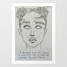 FKA Twigs ink Art Print