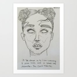 FKA Twigs ink Art Print