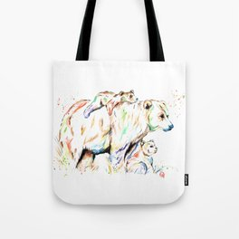 Bear Family - and then there were 3 Tote Bag