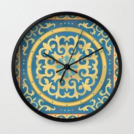 Kazakh national ornament Wall Clock
